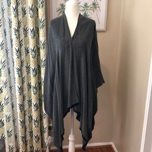 Luxe Wrap Cardi Sweater Charcoal Gray Luxe Layer
